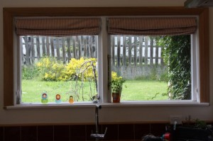 Photo of the roman blinds in the kitchen