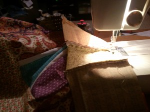 Photo of the quilt in progress